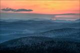Ouachita mountains, arkansas, sunset