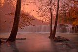 Arkansas, falling water falls, Ozark mountains, waterfall, sunrise