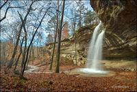 Teakettle falls, madison county, arkansas, waterfall
