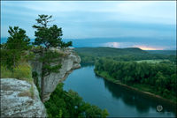 Calico Rock, arkansas, white river, thunderstorm, sunset, city rock bluff