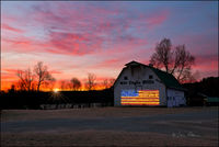 War Eagle Farms, barns, arkansas, sunrise
