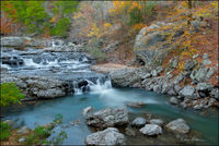 Little Missouri Falls, arkansas, ouachita mountains, fall color, waterfall