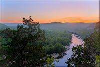 sunset, woolum, buffalo river, arkansas