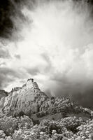 echo amphitheater, new mexico, ansel adams, abiquiu, ghost ranch, hernandez, black and white