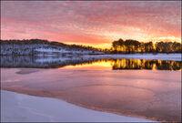 Beaver Lake Sunset with Ice