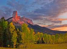 colorado, Uncompahgre Wilderness Area, chimney rock, sunset