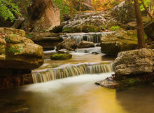arkansas, smith creek, waterfall