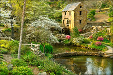 Old Mill, North Little Rock, Arkansas, americana, grist mill