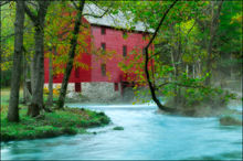 Alley Spring, Alley Spring Mill, Eminence, Missouri, grist mill, fall,