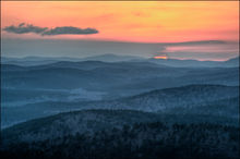 Ouachita mountains, arkansas, sunset