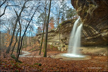 Teakettle falls, madison county, arkansas, waterfall