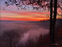 Sunrise over War Eagle River