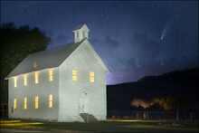 Boxley Valley Church, NEOWISE comet, Arkansas