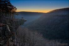 Venus over Hawksbill Crag