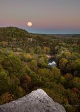 Full Hunter's Moonrise - Kings River