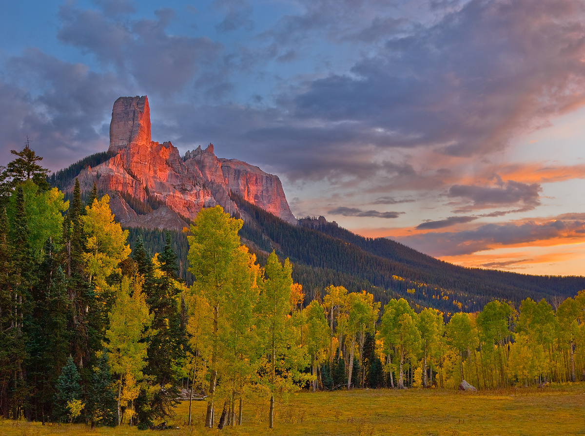 colorado, Uncompahgre Wilderness Area, chimney rock, sunset, photo