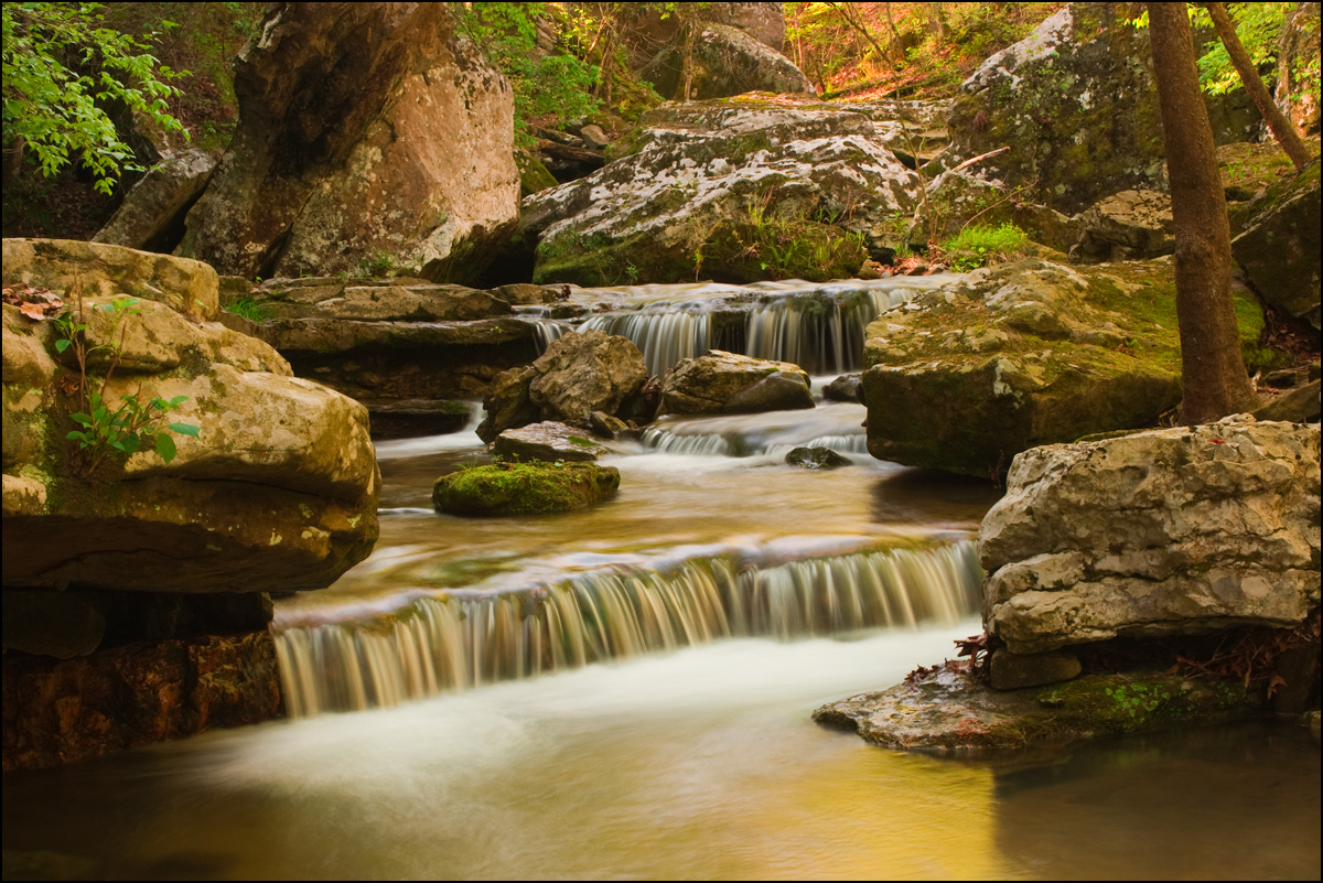 arkansas, smith creek, waterfall, photo