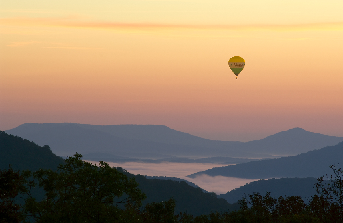 arkansas, , sunrise, hot air balloon, boxley valley, arkansas, photo