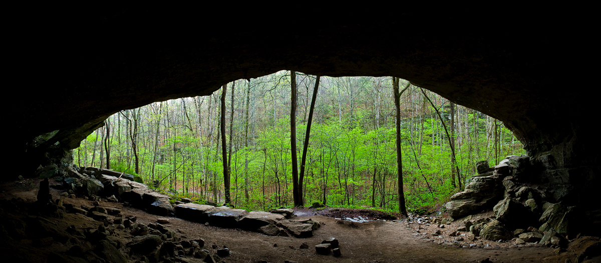 A bluff shelter inhabited by native Americans more than 10,000 years ago.