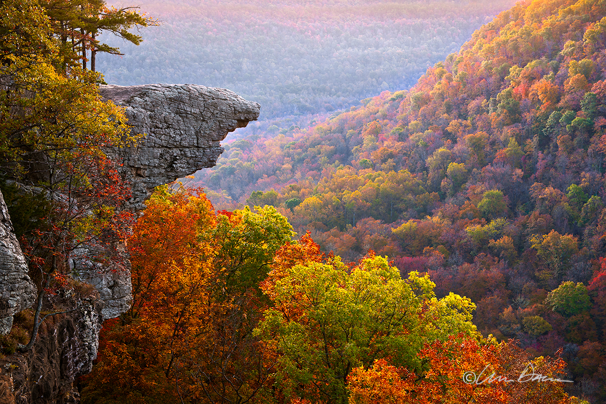 Taken just after sunrise, at the peak of fall color