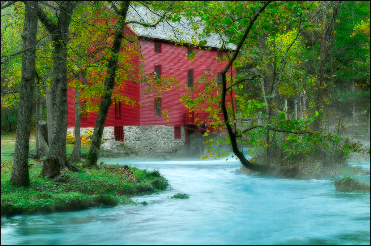 Alley Spring, Alley Spring Mill, Eminence, Missouri, grist mill, fall, , photo