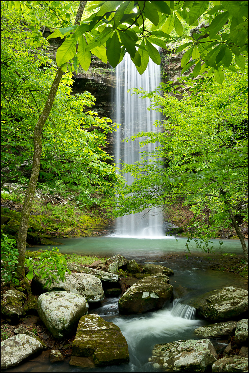 Bowers hollow, waterfall, spring, buffalo river, wilderness area, arkansas, photo